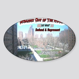 DEFEND-AND-REPRESENT Sticker (Oval)